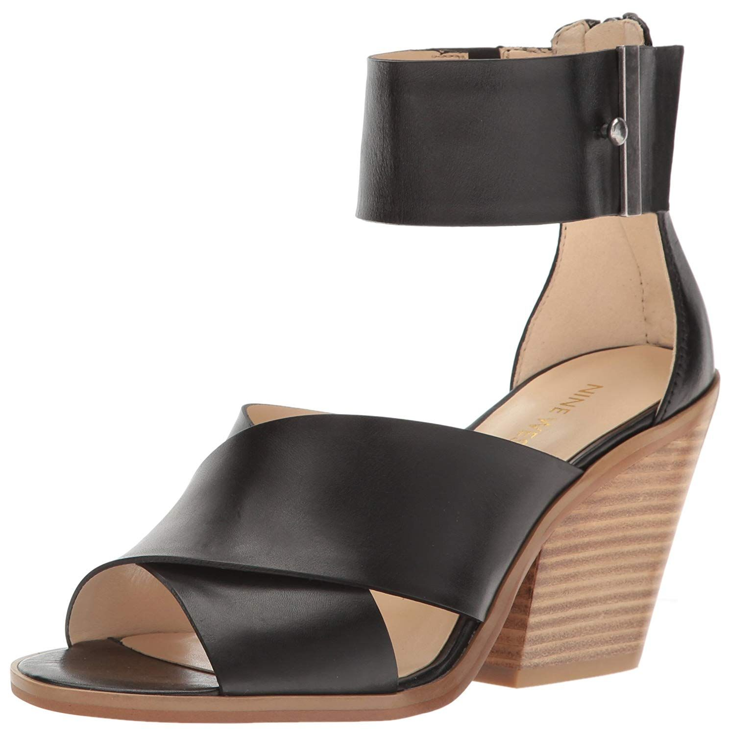 207ee912875 Nine West Women s Yannah Leather Wedge Sandal. Nine west offers a quick  edit of the