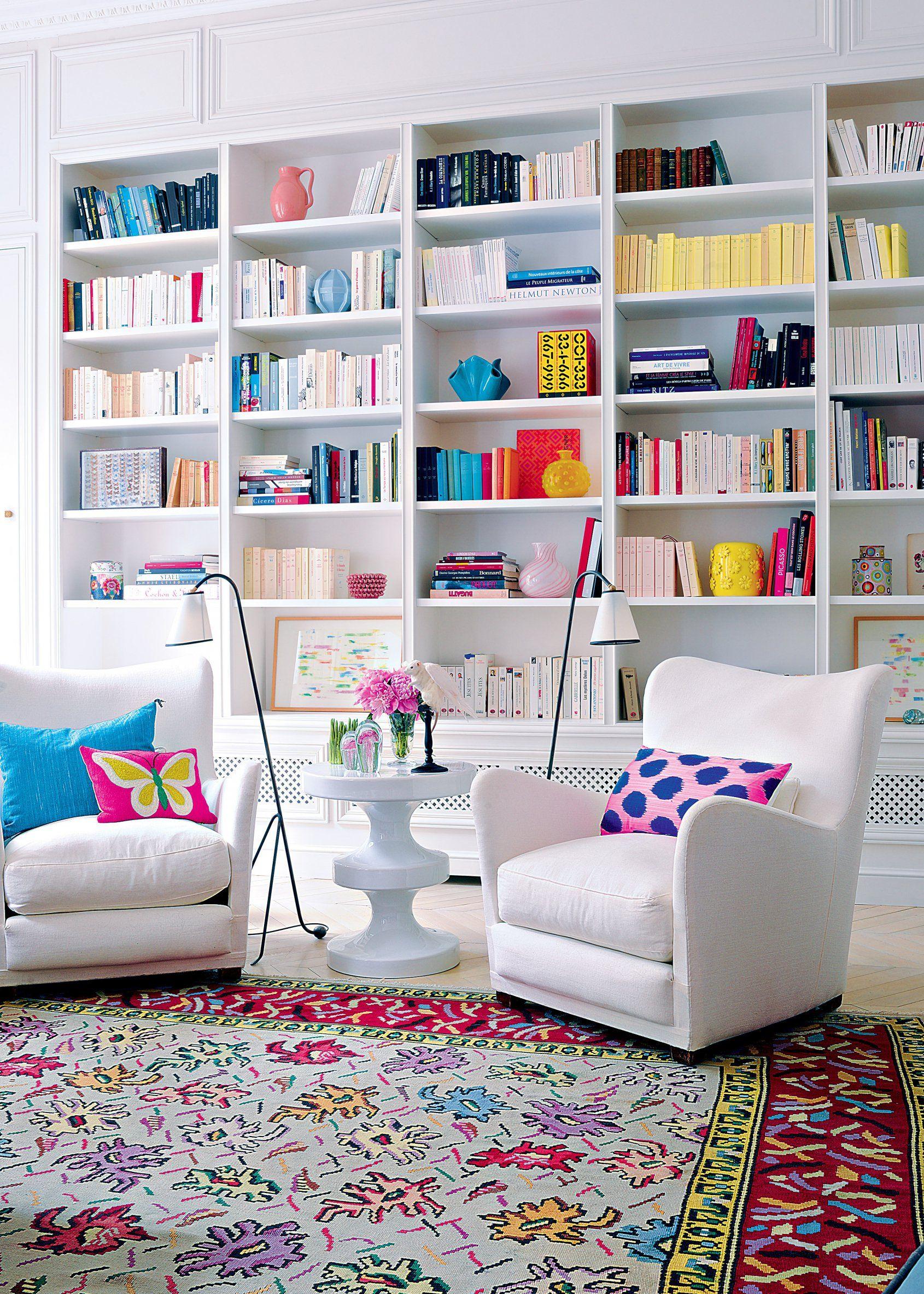 quelle couleur pour mon salon large fauteuil biblioth que murale et coin lecture. Black Bedroom Furniture Sets. Home Design Ideas