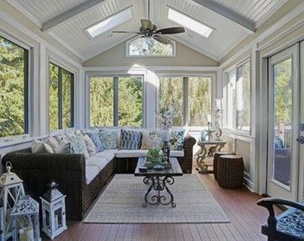 30 Inspiring Sunroom Design Ideas On A Budget Trenduhome Small Sunroom Sunroom Designs House With Porch
