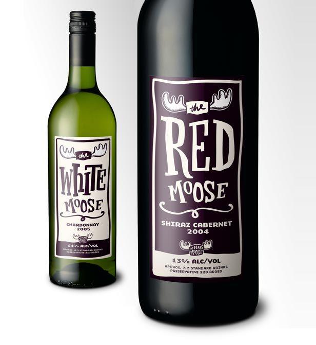 Retouch: Wine bottle labels :: Bart Kowalski | I Love Moose ...