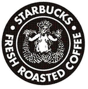 Starbucks Old Logolook At It Upside Down