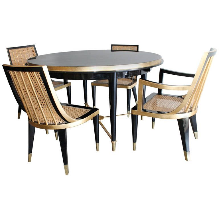 Explore Modern Dining Room Sets, Dining Sets, And More! Gold Leaf And Black  Lacquer ...