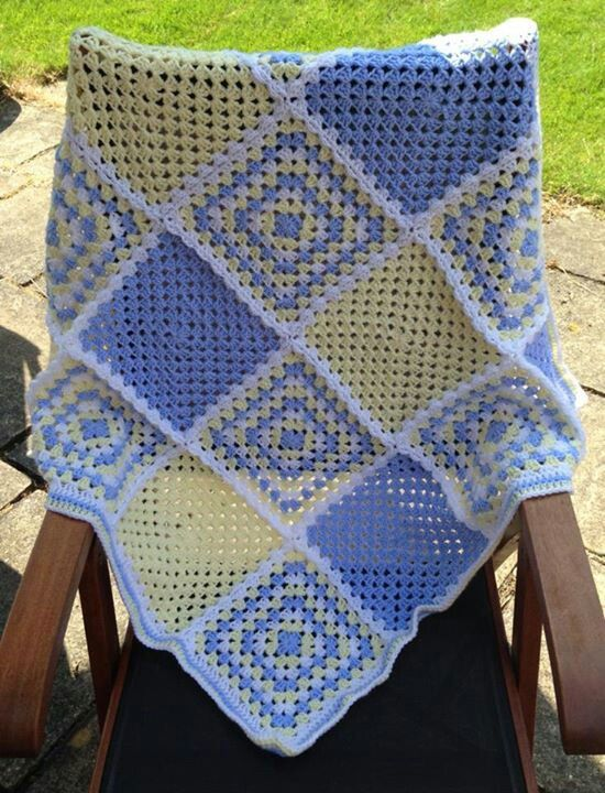 Sharon Collins, a member of Bethintx1 crochet group on Facebook, made this beautiful baby afghan.