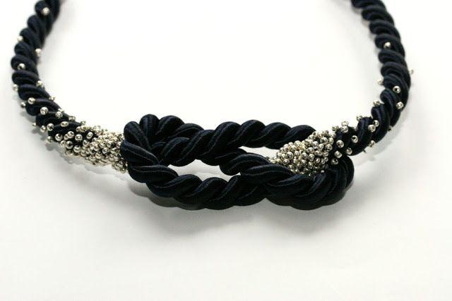silk figure 8 knot necklace DIY