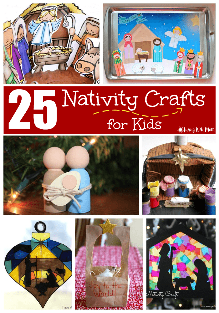 25 Nativity Crafts for Kids   Free printable, Miniatures and Scene