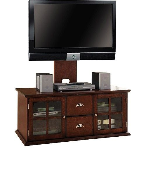 Wood Tv Stand With Mounts For Flat Screens Living Room Den