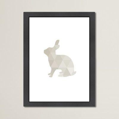 """Varick Gallery Beckett Rabbit Framed Graphic Art Size: 12.5"""" H x 10.5"""" W x 1.5"""" D"""