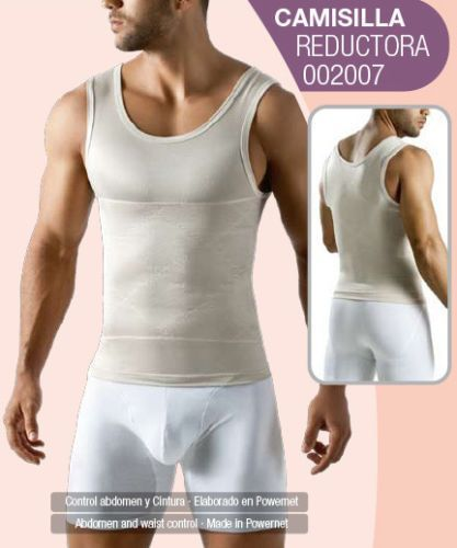 Insta Slim Compression Muscle Tank, White, Large