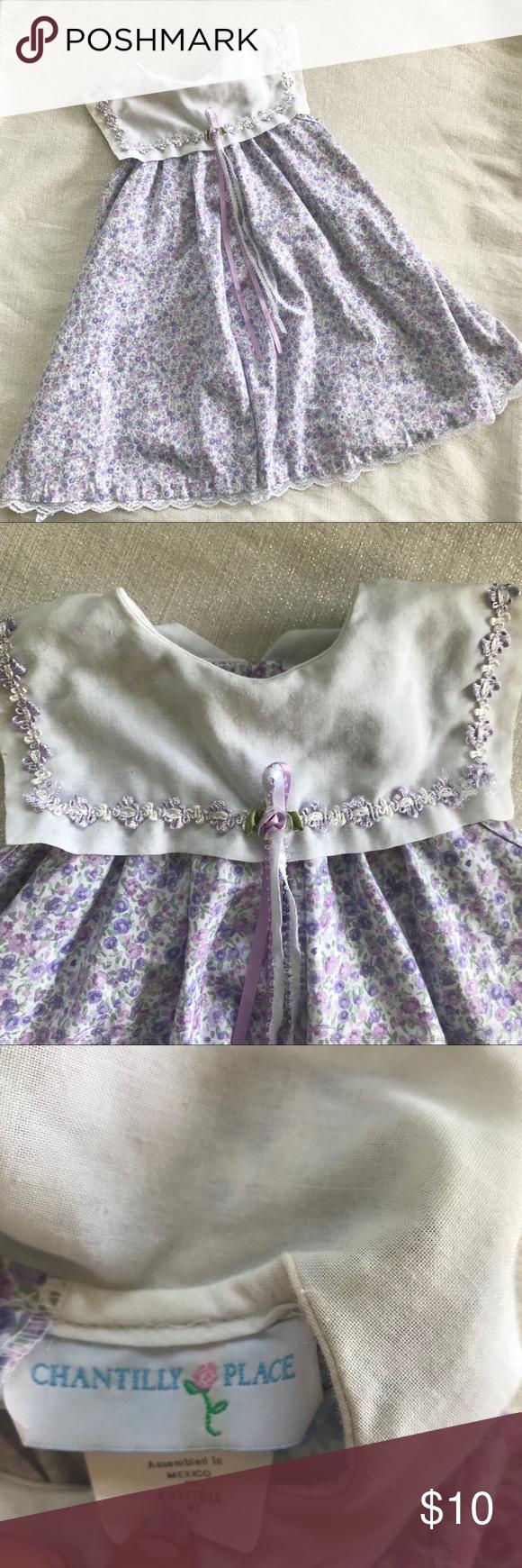 Vintage Purple Floral Dress 4t Chantilly Place Vintage Little Girl Dress Purple Floral Print Babydoll Styl Purple Floral Dress Purple Girls Dress Floral Dress [ 1740 x 580 Pixel ]