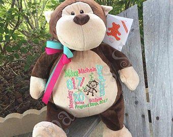 Sock Monkey, Custom Sock Monkey, Personalized Sock Monkey, Vintage Sock Monkey. Sock monkey gift, Embroidered Sock Monkey, Vintage toy gift