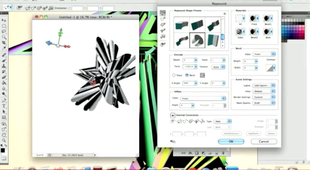 Abstract Star In Repousse With Photoshop Cs5 Photoshop Cs5 Photoshop Tutorial Repousse