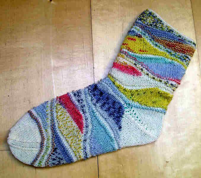 Strickanleitung Socken Eiscreme