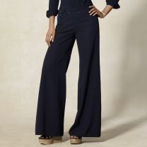 High-Waist Wool Sailor Pant
