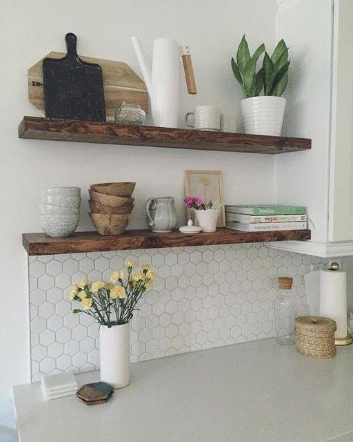 Reclaimed Wood Floating Shelf Home Decor Kitchen Floating