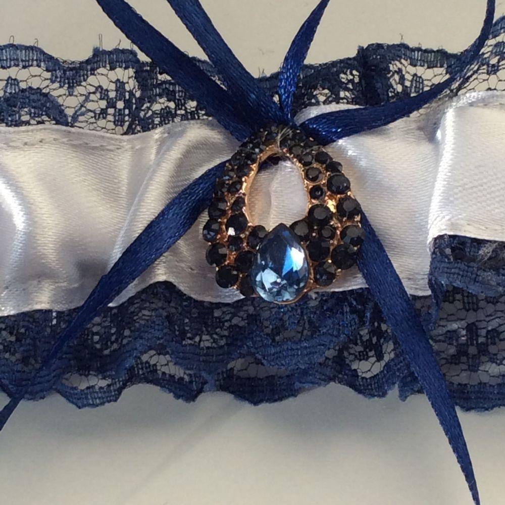 Blue Wedding Garter Uk: Prom Hen Wedding Something Blue Garter Lace Ribbon