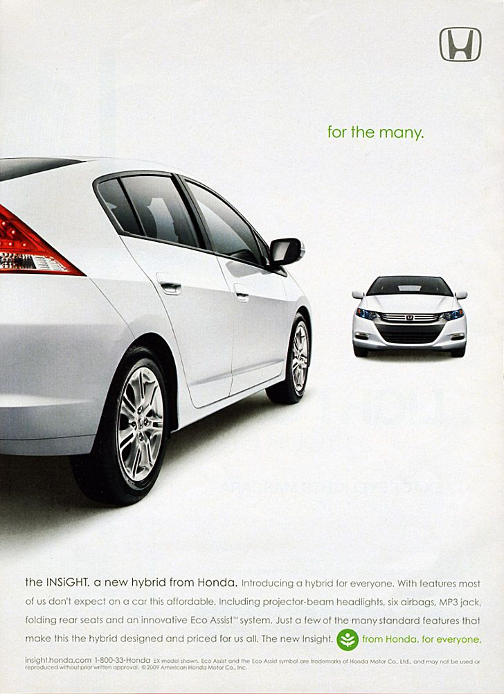 Insight Advertising Creative Poster Ads Honda Cars Print