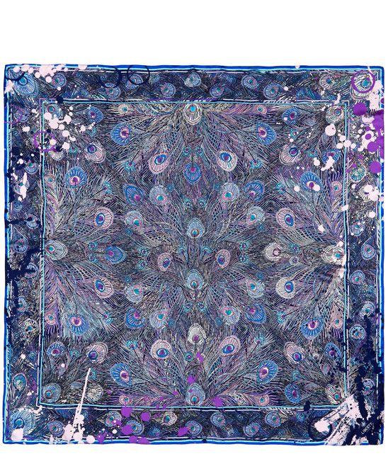 Liberty London Pink Jackson's Hera Silk Satin Scarf