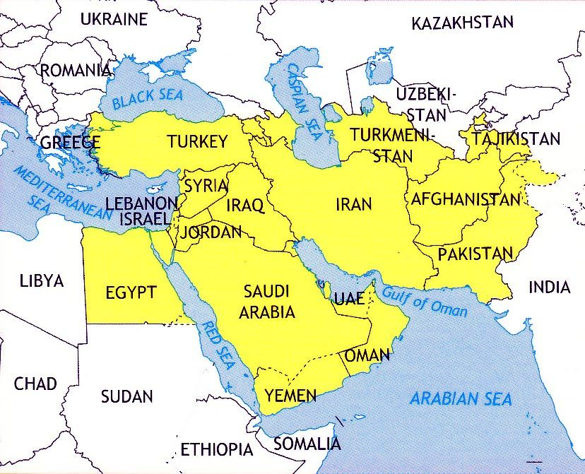 map showing israel jordan iran iraq syria google search
