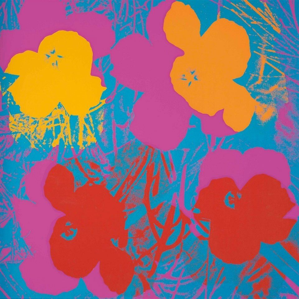 Andy Warhol - Flowers #andywarhol