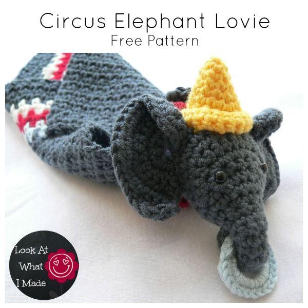 Circus Elephant Lovie | Knitting/Crocheting | Pinterest