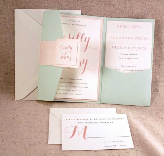 Best Mint Wedding Invitations Printable Invitations Card by