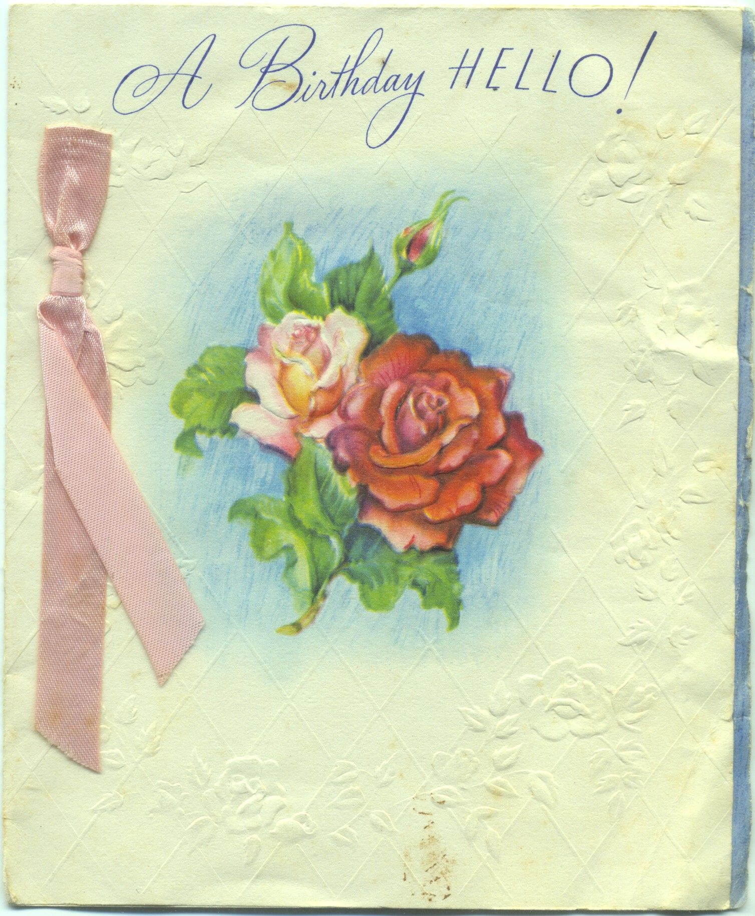 1940s Sapphire Greeting Card By American Greeting To My Mother From