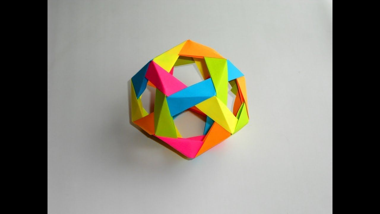 How To Make Modular Origami Dodecahedron Httpsyoutube