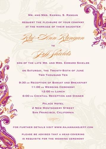 Wedding Invitation Wording Sample Verses By Wedding Paper Divas ...