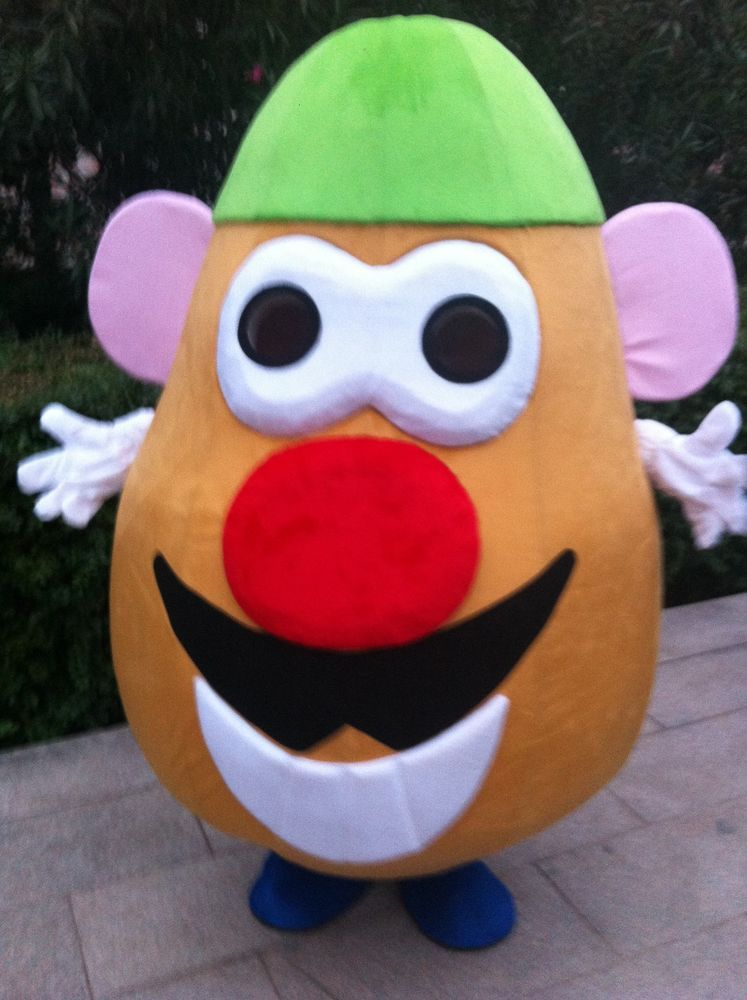 Adult costume head mr potato