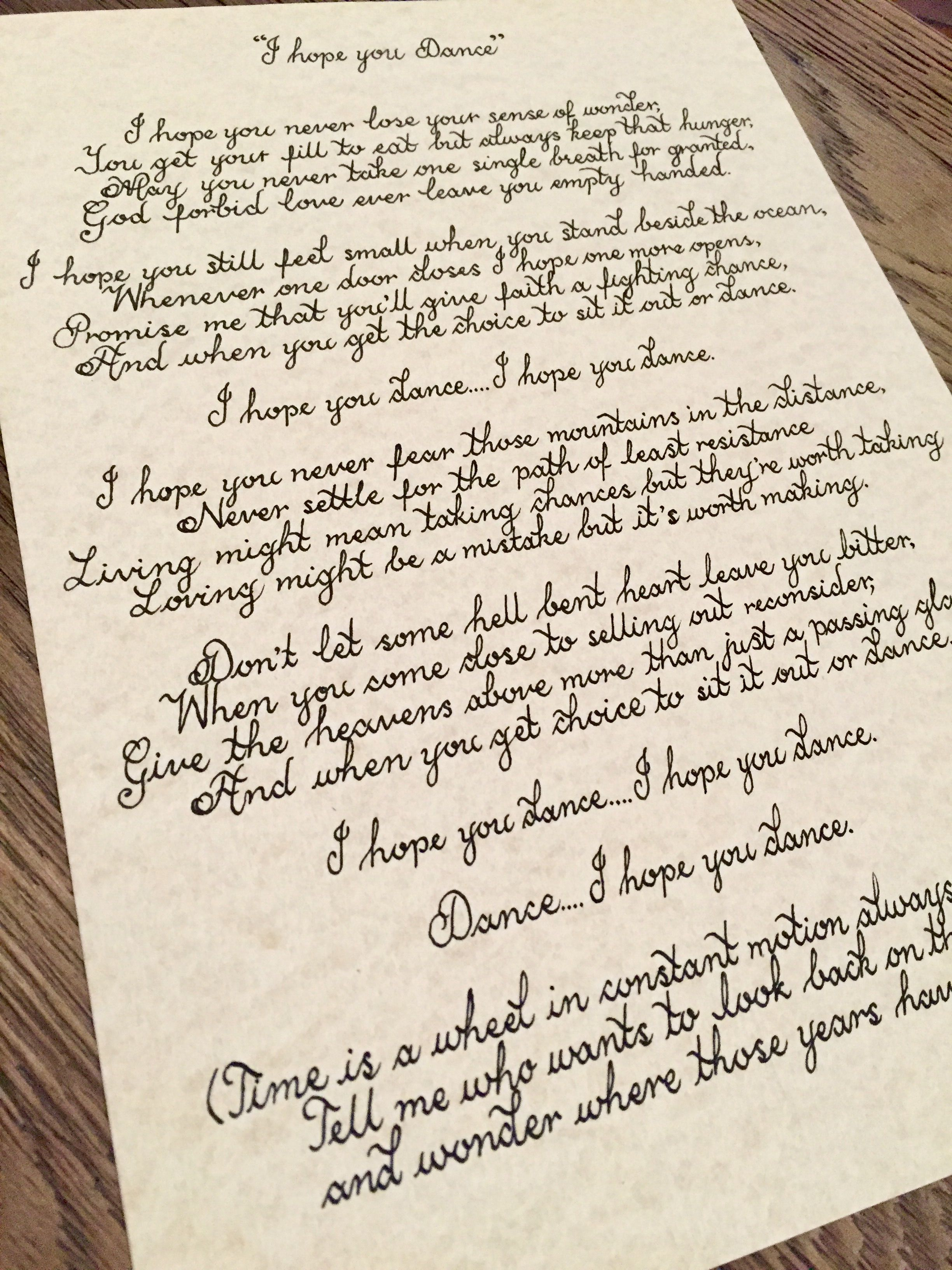 Calligraphy On Parchment