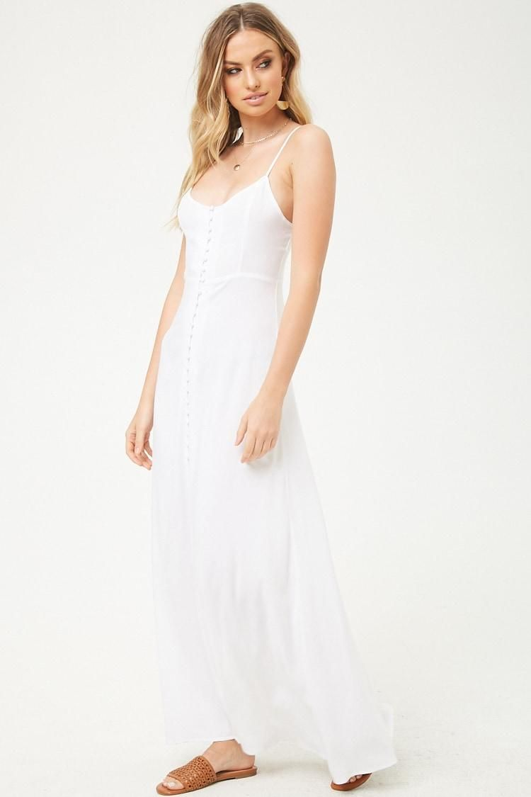Buttonfront maxi dress usd forever new forever
