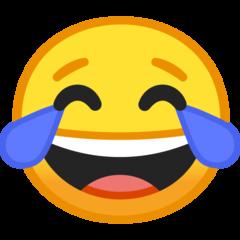 Face With Tears Of Joy On Google Android O Beta Laughing Emoji Tears Of Joy Emoji
