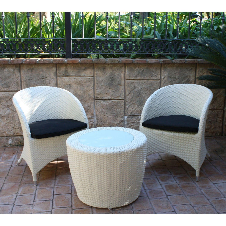 majestic garden sillones y mesa de exterior lotus white set de dos sillones de aluminio y - Sillones Exterior