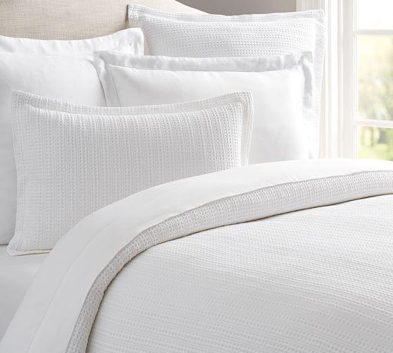 Honeycomb Cotton Duvet Cover Shams Duvet Covers White Duvet Covers Bed