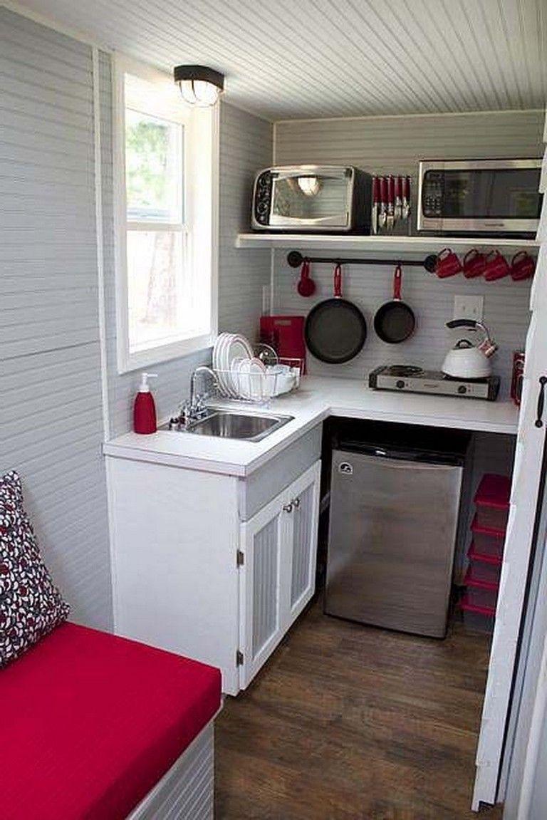 9 Awesome Tiny House Small Kitchen Ideas   Black kitchen decor ...