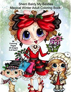 My Besties Magical Winter Autographed Coloring Book 50 Pages To
