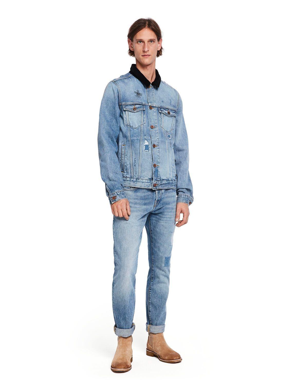 b71f72647 Vintage Wash Denim Jacket in 2019 | Kelvin | Denim, Jackets, Vintage
