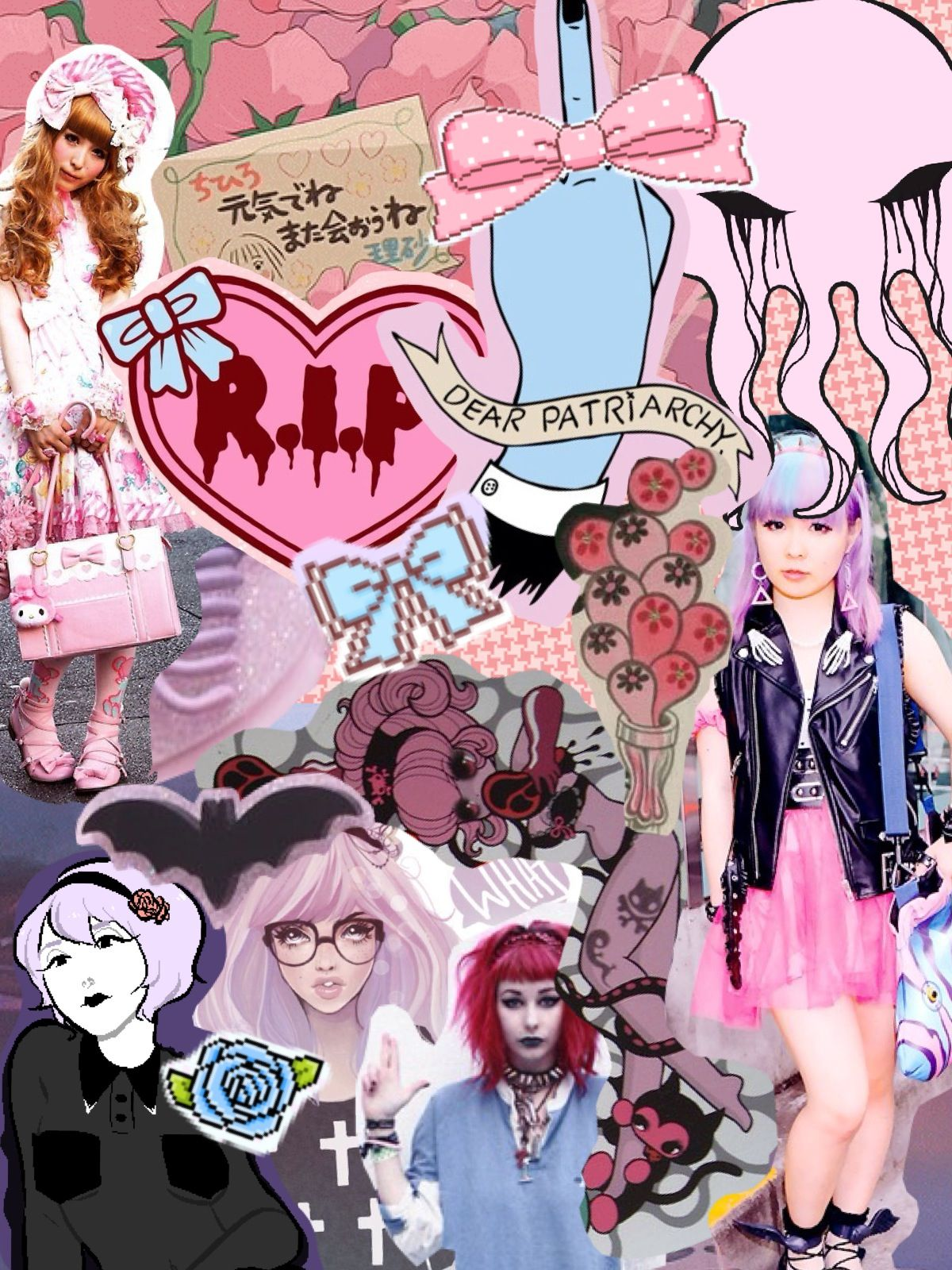 Aesthetic Pink Pastel Goth