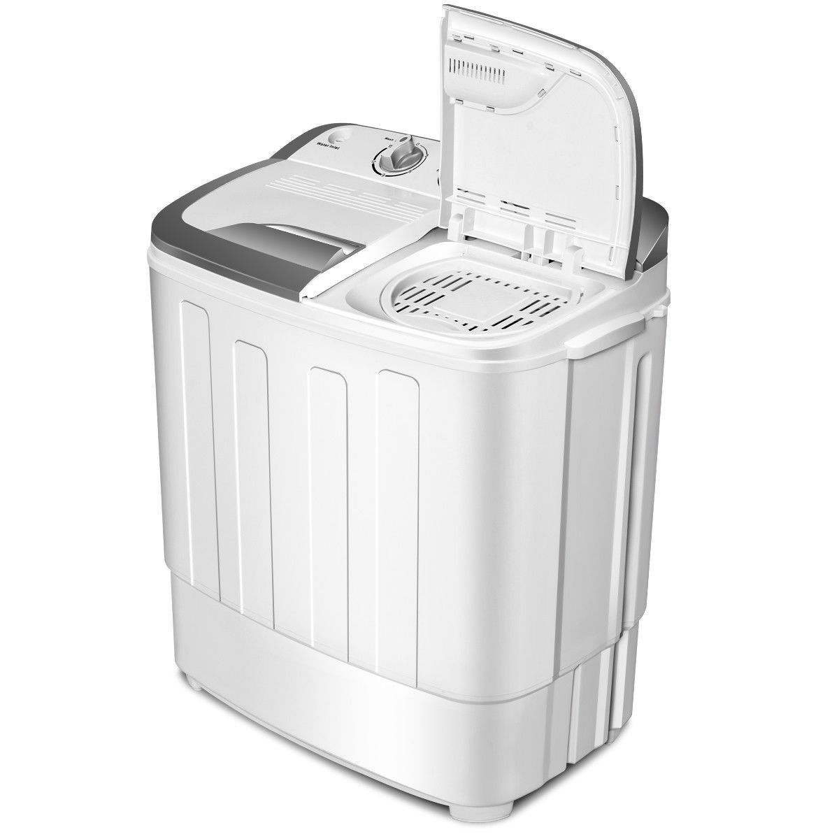 Portable Mini Compact 8 Lbs Compact Mini Twin Tub Dryer Washing Machine Color Gray And White Dimension 23 Portable Washing Machine Portable Washer Twin Tub