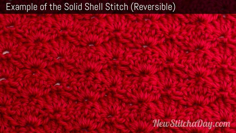 How to Crochet the Solid Shell Stitch NewStitchaDay.com | Recipes ...