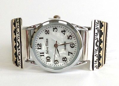 Watches 98502: Navajo 12K Gold Fill Over Sterling Silver Band Watch - Tommy Singer BUY IT NOW ONLY: $200.0