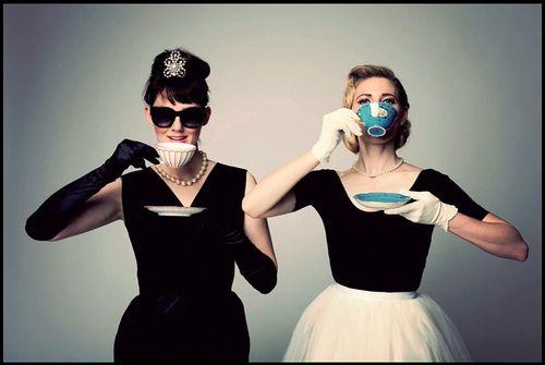 Audrey Hepburn and Grace Kelly styles cute idea for friend photos & FRIEND 1u003d Marilyn Monroe: white dress FRIEND 2u003d Audrey Hepburn ...