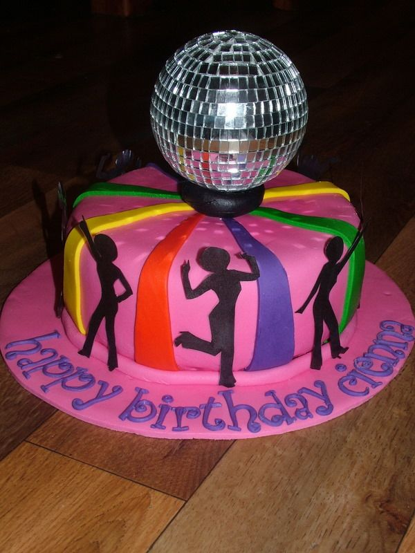 Mini Disco Ball Cake Decoration