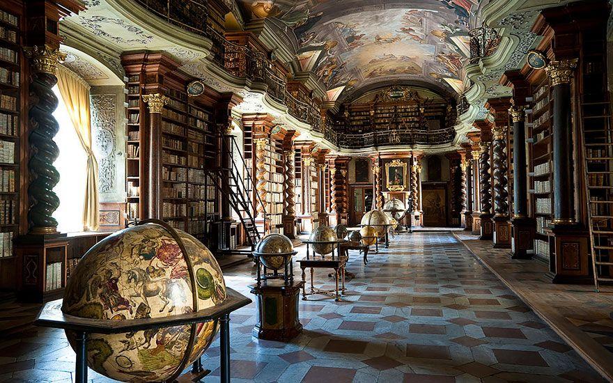 Barok mimari bir kütüphaneyle birleşirse: Klementinum Kütüphanesi | Mimari,  Barok, British museum