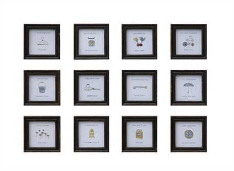 Small Framed Quotes Apple Oak Frame Wall Decor Frames On Wall Funny Wall Decor