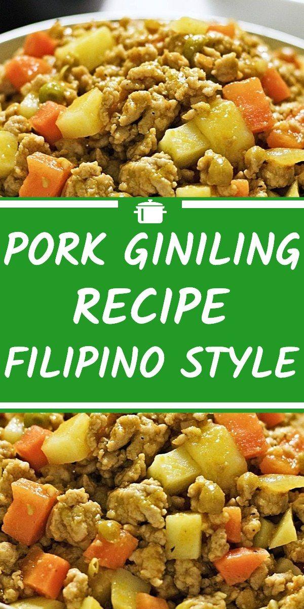 Pork Giniling Recipe Filipino Style Pork Giniling Recipe Ground Pork Recipes Easy Giniling Recipe
