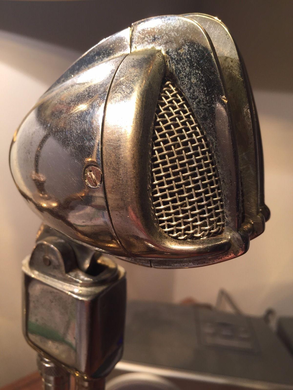 Vintage Super Rare MID Century Turner Crystal Microphone