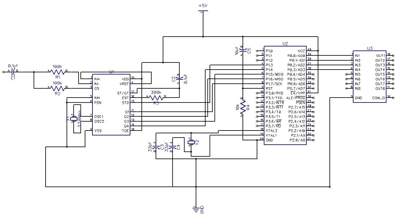 Home appliance control by mobile phone Circuit Diagram in