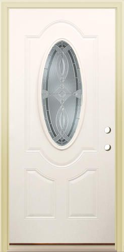 Mastercraft® Primed Steel Lite Prehung Exterior Door at Menards® Mastercraft\u0026reg; Aurora x Primed Steel Lite Prehung Exterior Door - Left Inswing : door closer menards - pezcame.com