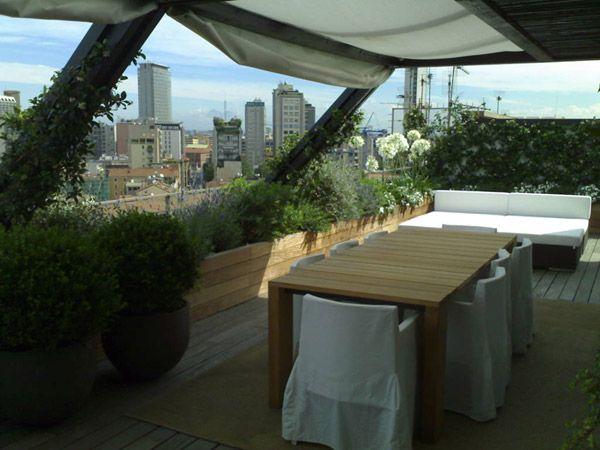Progettazione e creazione terrazzi a milano by Marazzi Giardini ...